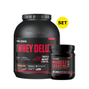BODY ATTACK Extreme Whey Deluxe 2300g + Muscle Creatine...