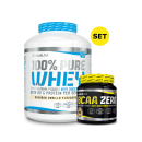 BioTechUSA 100% Pure Whey 2270g + BCAA Flash Zero 360g GRATIS Chocolate-Peanut Butter Green Apple