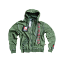 "Zip Hoody ""Solid"" military green"