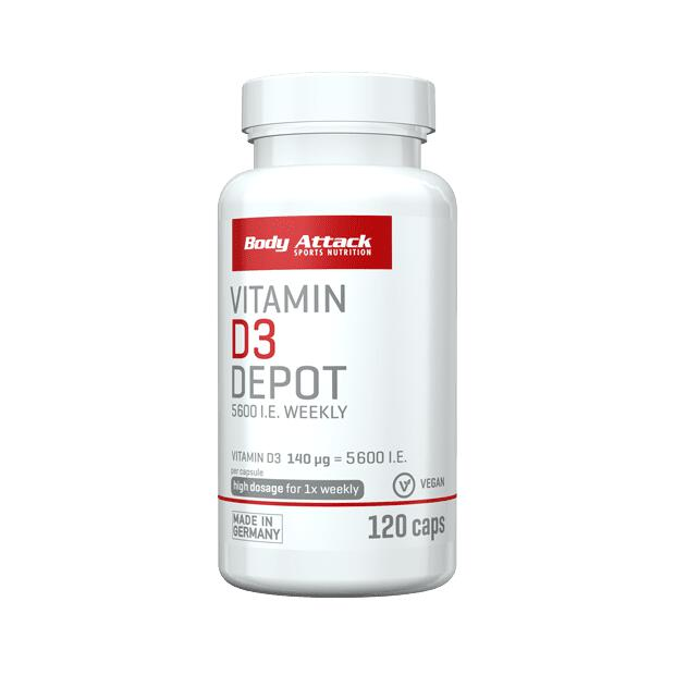 BODY ATTACK Vitamin D3 Depot 120 Caps