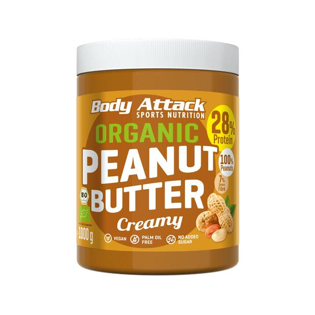 BODY ATTACK Organic Peanut Butter 1000g