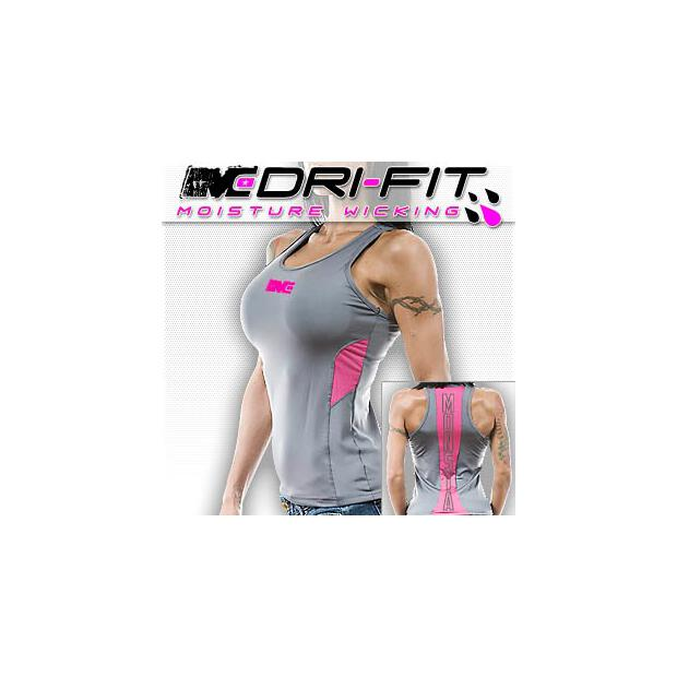 Racerback Monsta Dri-Fit Back Stripe grey/pink