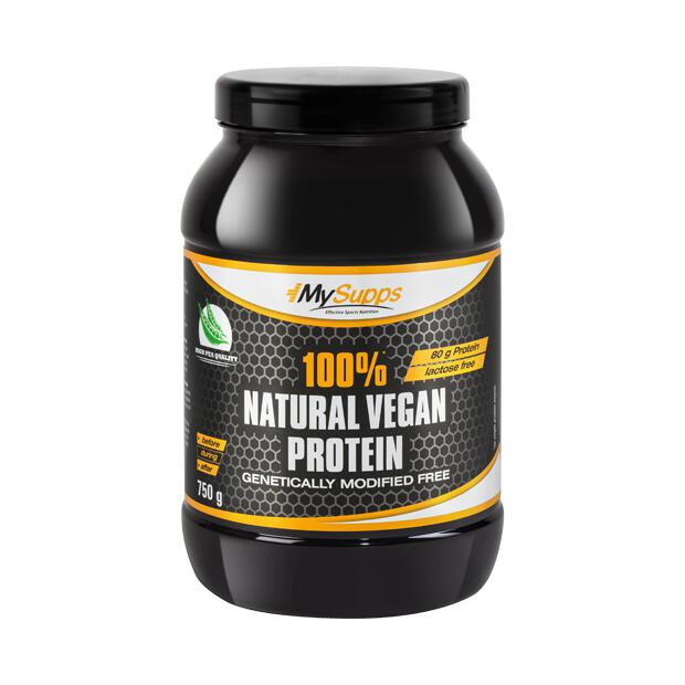 MY SUPPS 100% Natural Vegan Protein 750g Dose
