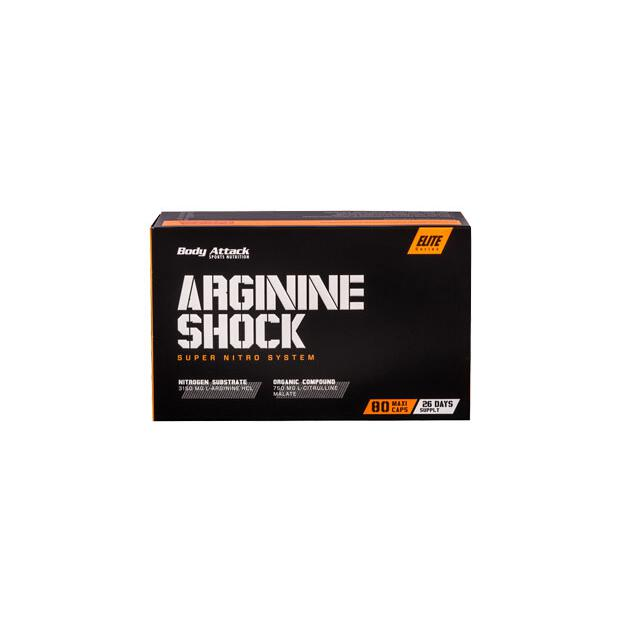 BODY ATTACK Arginine Shock 80 Caps