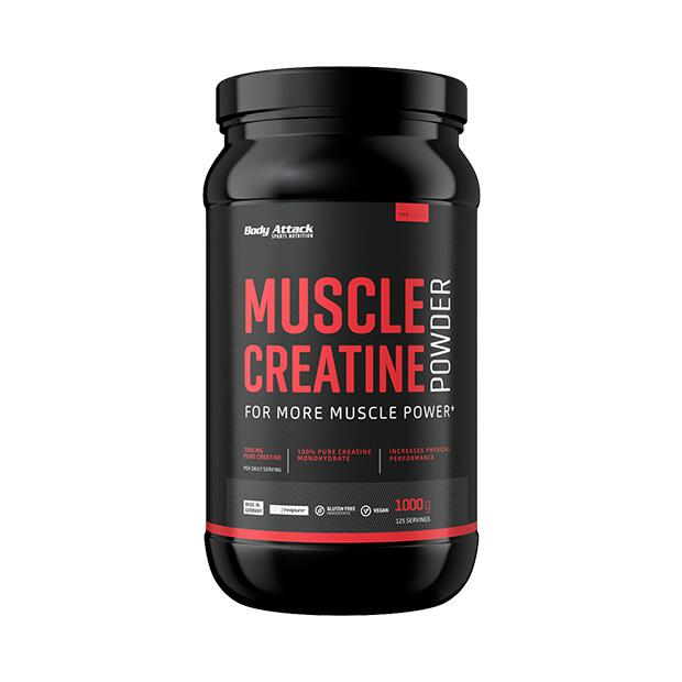 BODY ATTACK Muscle Creatine (Creapure) 1000g