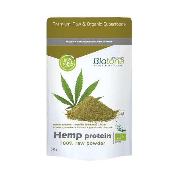 BIOTONA Hemp Protein 100% raw Powder 300g