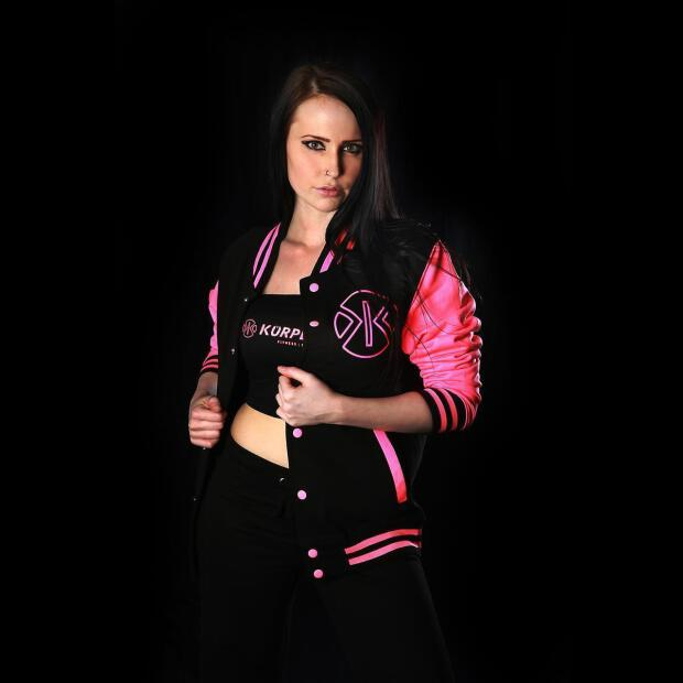 College Jacket Körperkult black/pink