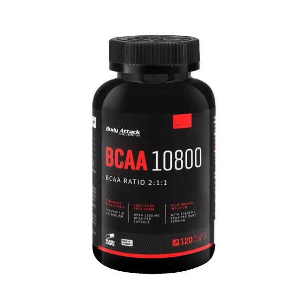 BODY ATTACK BCAA 10800 120 Caps