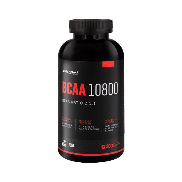 BODY ATTACK BCAA 10800 300 Caps