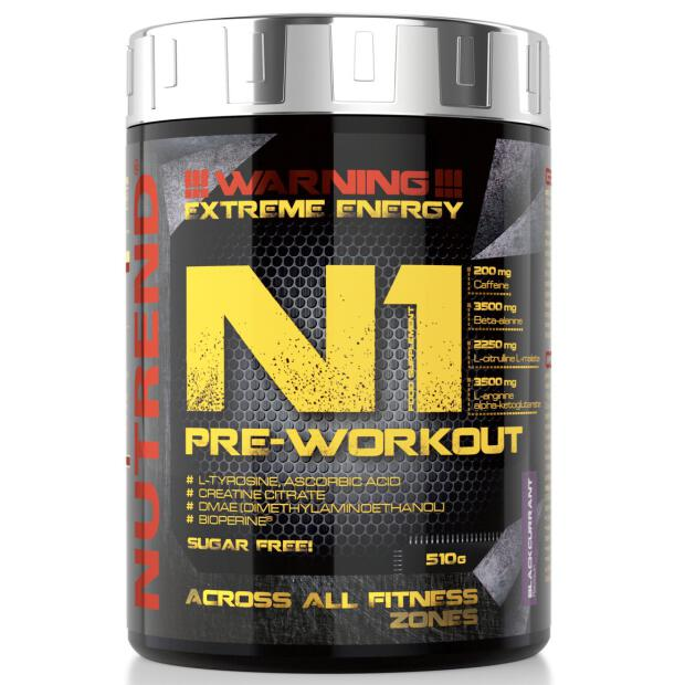 NUTREND N1 Pre Workout Booster 510g