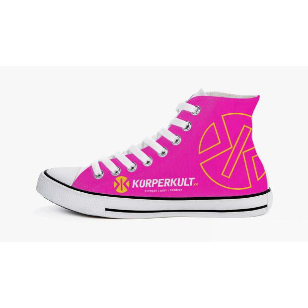 KÖRPERKULT High Top Sneakers pink