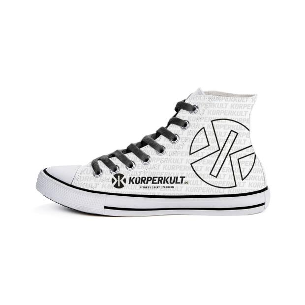 KÖRPERKULT High Top Sneakers white/black